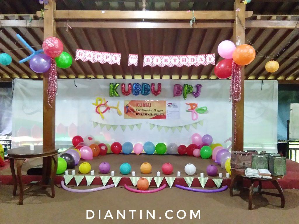 ulang tahun klub buku dan blogger backpacker jakarta 3 - diantin