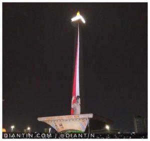 Video Mapping di Monas Dalam Rangka Perhelatan Asian Games 1