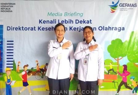 drg. Kartini dan dr. Made direktorat kesehatan kerja dan olahraga - diantin.com