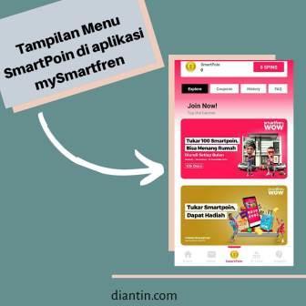 Tampilan menu SmartPoin di aplikasi MySmartfren - diantin.com
