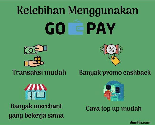 cara top up gopay - gojek - diantin.com