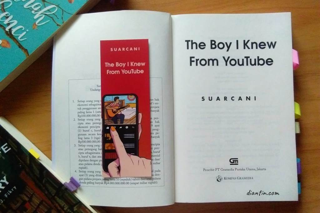 cover buku the boy i knew from youtube