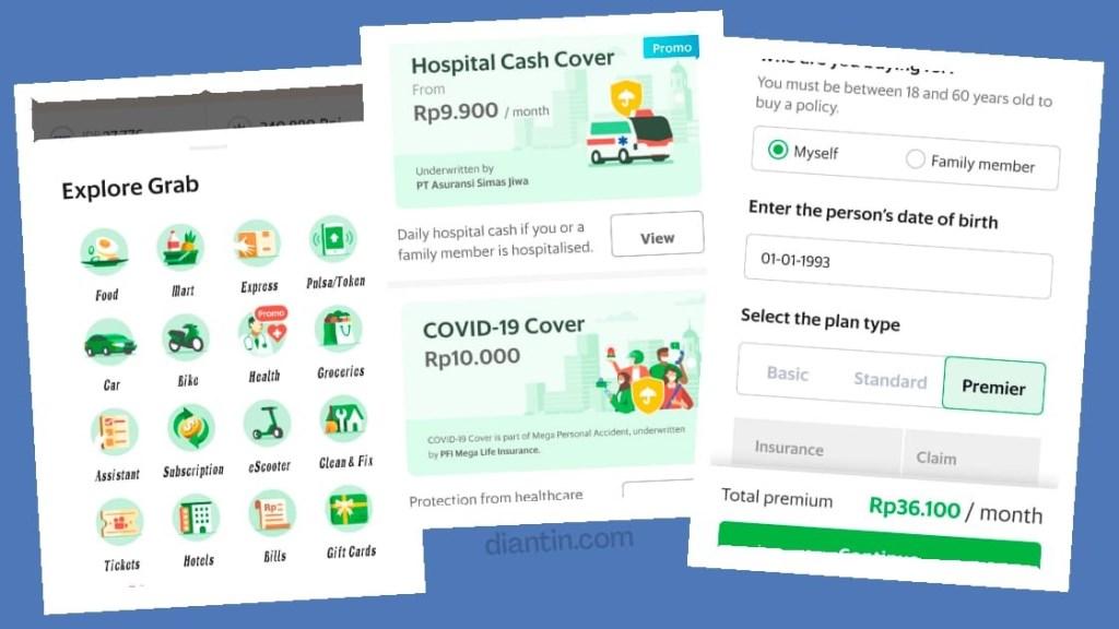hospital cash cover simas jiwa di aplikasi grab