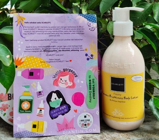 body lotion scarlett whitening