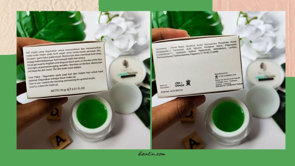ingredients green glow by maresha
